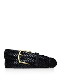 Polo Ralph Lauren Classic Braided Leather Belt Black