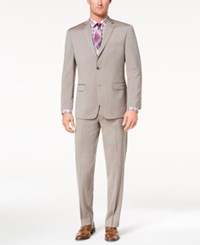 Marc New York By Andrew Men's Classic Fit Stretch Tan Solid Suit