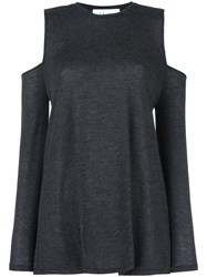 Iro 'Adele' Cold Shoulder Top Black