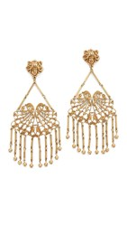 Rodarte Antique Honey Brass Earrings