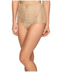 Versace Lace High Waisted Panty Nude
