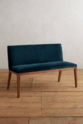 Anthropologie Velvet Emrys Bench Blue Green