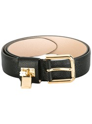 Dolce And Gabbana Padlock Belt Black