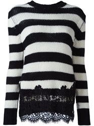 Ermanno Scervino Lace Applique Sweater Black