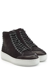 Mcq By Alexander Mcqueen Suede High Top Sneakers Black