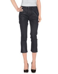 Pinko Grey Denim Capris Black