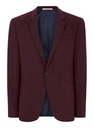 Topman Red Burgundy Muscle Fit Suit Jacket