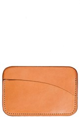United By Blue Leather Card Case Brown Natural Leather