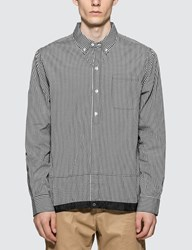 Denim By Vanquish And Fragment Icon Gingham Check Coaches Shirt Black