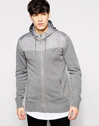 Voi Jeans Long Sleeve Zip Through With Chest Pockets Grey