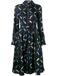 Olympia Le Tan Shirt Dress Silk Black