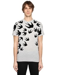 Mcq By Alexander Mcqueen Swallow Printed Cotton Jersey T Shirt