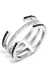 Women's Baublebar 'Open Ended' Pave Crystal Ring