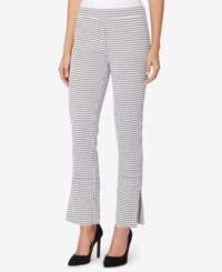 Catherine Malandrino Jacquard Pull On Pants Black White