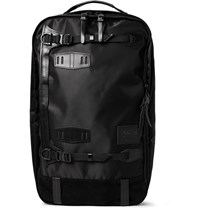 Master Piece Potential Convertible Leather And Suede Trimmed Canvas Backpack Black