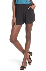 Lush Women's Woven High Waist Shorts
