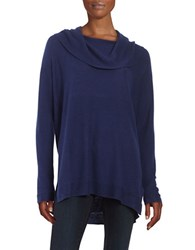 Lord And Taylor Cowlneck Sweater Navy Night