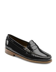 G.H. Bass Whitney Patent Leather Penny Loafers Black