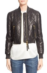 Women's Burberry Brit 'Stowleigh' Quilted Crop Leather Bomber Jacket