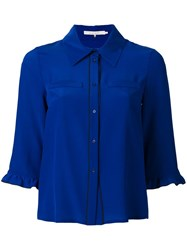 L'autre Chose Piped Trim Shirt Blue