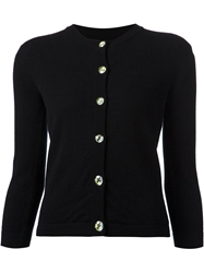 Lucien Pellat Finet 'Peace And Love' Buttoned Up Cardigan Black