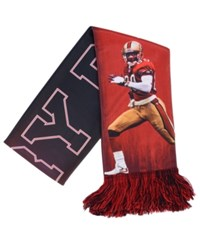 Forever Collectibles Jerry Rice San Francisco 49Ers Sublimated Player Scarf Red Black
