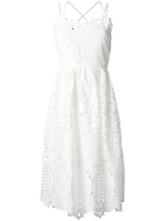 Perseverance London Flared Lace Dress White