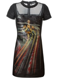 Antpitagora Quilted Digital Print Dress