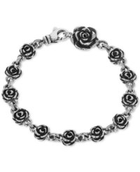King Baby Studio Rose Link Bracelet In Sterling Silver
