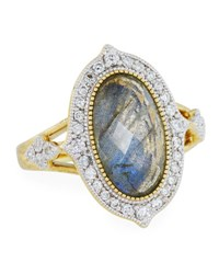 Jude Frances Moroccan 18K Diamond And Labradorite Doublet Ring Size 6.5