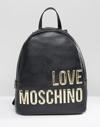 Love Moschino Backpack With Large Logo Black