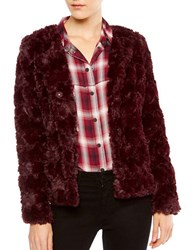 Sanctuary Chubby Faux Fur Jacket Dark Shiraz