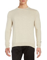 Black Brown Long Sleeve Crewneck Sweater Oatmeal Heather