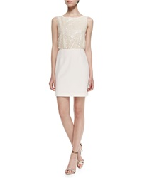 4.Collective Sleeveless Sequined Front Fitted Dress Women's