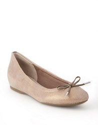 Rockport Bow Textured Ballet Flats Grey