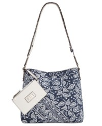Style And Co Co. Clean Cut Paisley Reversible Crossbody With Wristlet Only At Macy's Paisley Garden