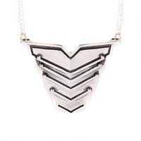 Lee Renee Romeo Necklace Silver Grey Silver