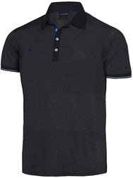 Galvin Green Men's Marlon Ventil8 Polo Black And Blue Black And Blue
