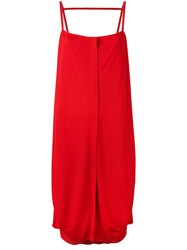 Maison Martin Margiela Buttoned Day Dress Red
