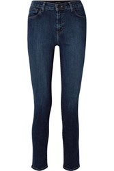 J Brand Ruby 30 High Rise Slim Leg Jeans Dark Denim
