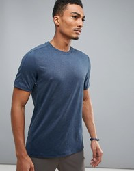 Perry Ellis 360 Sports T Shirt In Navy Marl Mood Indigo