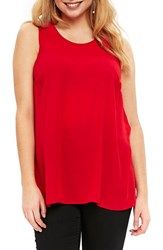 Evans Plus Size Women's Tunic Tank Hot Pink
