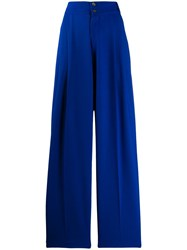 Alysi Wide Leg Trousers Blue