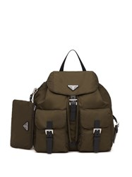 Prada Multipocket Backpack Green