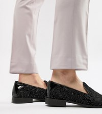 c0ca2618c29 House Of Hounds Wide Fit Hawk Loafers In Black Chiffon