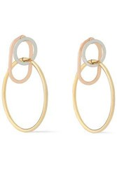 Alexander Wang Yellow White And Rose Gold Tone Hoop Earrings Gold