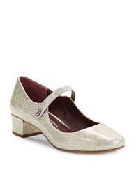 Marc Jacobs Lexi Patent Mary Janes Silver