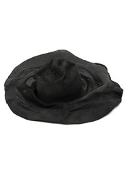 Horisaki Design And Handel Crumpled Wide Brim Hat Black