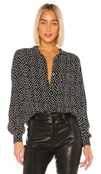 Velvet By Graham And Spencer Ardelle Blouse In Black. Polka Dot