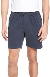 Vintage 1946 7In Snappers Elastic Waist Shorts Navy